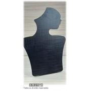 Busto Perfil (06) MDF Preto