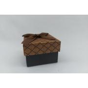 Caixa 5x5  marrom  quadriculada c/ 12 unidades