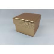 Caixa 5x5 Dourada para Anel pacote com 12 unidades