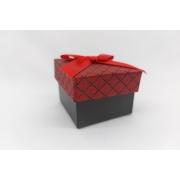 Caixa 5x5  vermelha quadriculada c/ 12 unidades