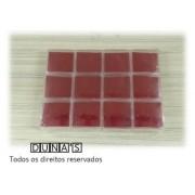 Caixa de Acrílico 6x6x2 (fundo vermelho) pacote com 12 unidades