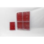 Caixa de Acrílico 8x11x3 (fundo vermelho) pacote com 6 unidades