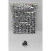 Caixa de Acrílico Coração 3.5x3.5x2 (fundo preto) com 48 unidades