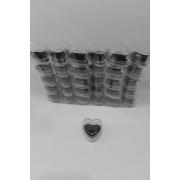 Caixa de Acrílico Coração 4.5x4x3 (fundo preto) com 30 unidades