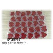 Caixa de Acrílico Coração 4.5x4x3 (fundo vermelho) com 30 unidades