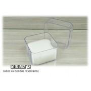 Caixa de Acrílico para Relógio Quadrada 8.5x8.5x6.5 Transparente ( pacote com 12 pçs )
