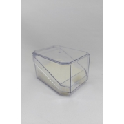 Caixa de Acrílico para Relógio Transparente tampa corte diagonal 7x10x6 ( pacote com 12 pçs )