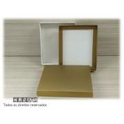 Caixa Dourada com espuma  13x16x3  G -PCT/ 10 UNID