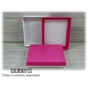 Caixa Pink com espuma  13x16x3 para bijouteria ( pacote com 10 unidades) G