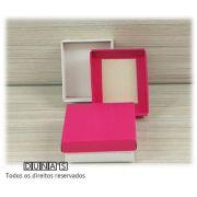 Caixa Pink com espuma  6x7x3 para bijouteria ( pacote com 18 unidades)