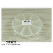 Caixa Plástica Organizadora Pizza 11x11x2 transparente 8 divisóias