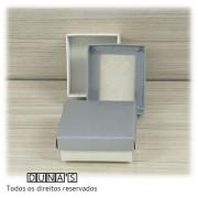 Caixa Prata com espuma  6x7x3 P- PCT/18 UNID