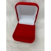 Caixa Veludo para Anel Vermelho 5x5