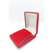 Caixa Veludo Vermelho  (corte lateral p/corrente ) 5.5x6.5