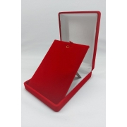 Caixa Veludo Vermelho  (corte lateral p/corrente ) 8x11