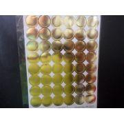 Etiqueta adesiva ( bolinha ouro ) pacote com 96 unidades