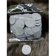 Etiqueta de Brinco Redonda c/ acetato ( pacote com 500 unidades )