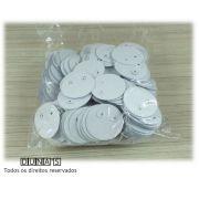 Etiqueta de Brinco Redonda ( pacote com 500 unidades )