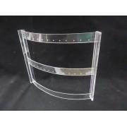 Expositor Barril acrílico Transparente (14 pares )
