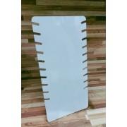 Expositor de Acrílico Fosco  - 10 recortes para Correntes 16.5x09x34