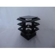 Expositor de Acrílico para Piercing Peq Giratório 14x14x16 Preto