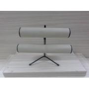 Expositor de Pulseira ( pé de ferro ) Duplo Napa Bege 30x23x16