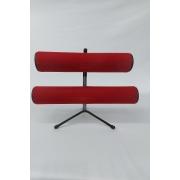 Expositor de Pulseira ( pé de ferro ) Duplo  Vermelho 30x23x16