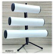 Expositor de Pulseira ( pé de ferro ) Triplo Napa Branco 30x30x16
