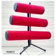 Expositor de Pulseira ( pé de ferro ) Triplo  Vermelho 30x30x16
