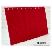 Expositor para Corrente Veludo Vermelho ( 11 ganchos ) deitado 23x31x10