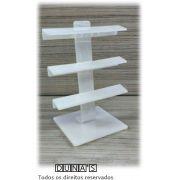 Expositor para Piercing Acrílico Fosco Haste Peq ( 24 furos ) 10x08x13