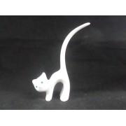 Expositor Resina Gato para anéis Branco 9x16x3.5