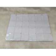 Folha plástica com 24 divisões