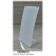 Placa de Acrílico para Brinco Individual Fosco ( recorte ) M 6x8x4