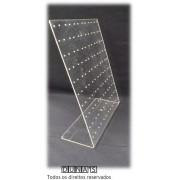 Placa de Acrílico para Brincos transparente 23x26x8 (120 furos )