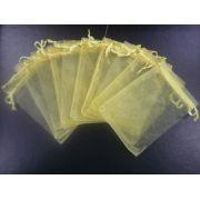 Saco de Organza 12x18 Dourado pacote com 100 unidades