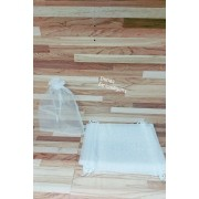 Saco de Organza 15x20 Branco pacote com 10 unidades