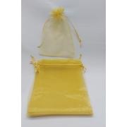 Saco de Organza 15x20 Dourado pacote com 100 unidades
