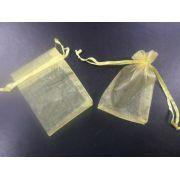 Saco de Organza 7x9 Dourado pacote com 10 unidades