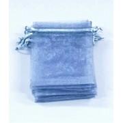 Saco de Organza 9x12 Cinza  pacote com 100 unidades