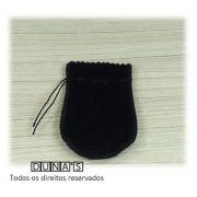 Saco de Veludo PRETO ( 6X7 - área útil ) PCT C/10 UNIDADES