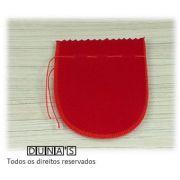Saco de Veludo VERMELHO ( 10X11 - área útil ) PCT C/10 UNIDADES