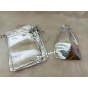 Saco Lame 10X15 Prata  pacote com 100 unidades