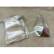 Saco Lame 10X15 Prata  pacote com 10 unidades