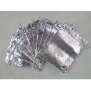 Saco Lame 9X12 Prata pacote com 100 unidades
