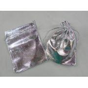 Saco Lame 9x12 Prata pacote com 10 unidades