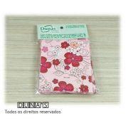 Saco Presente 8x8 pink borboletas/floral (pacote com 100 unidades)