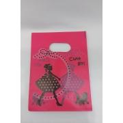 SACOLA 15X20 CUTE GIRL PINK
