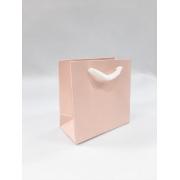 Sacola de papel 10x10- Salmão - acetinada