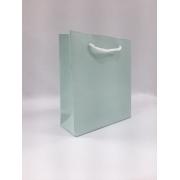 Sacola de papel 13x13- Verde claro - acetinada